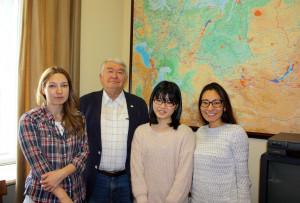 На кафедре РПП успешно завершила учебную практику студентка Токийского университета Сейна Утида